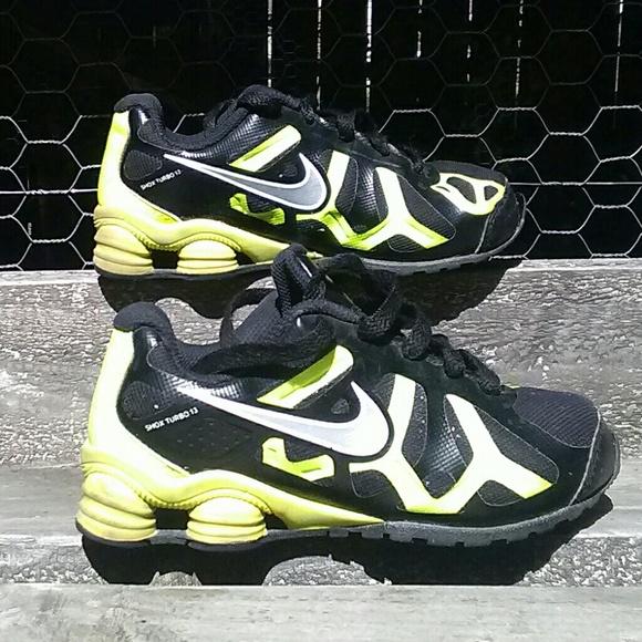 save off 3653f 0ec08 ... where can i buy nike shox turbo 13 boys size 11.5c black yellow ef3f0  dbe09